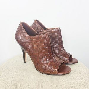 Cole Haan | Woven Ankle Bootie Heel - Size 10